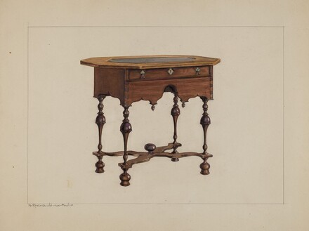 Slate-top Table