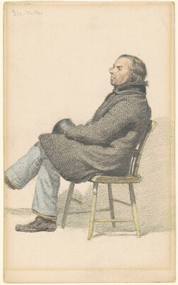 Man Seated in Hitchcock Chair