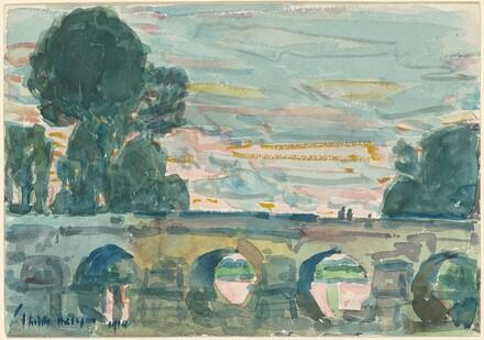 The Bridge at Grez [recto]
