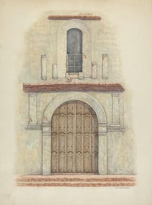 Arched Doorway Mission San Diego