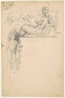 Study for Casts from Antique Sculpture: The Parthenon