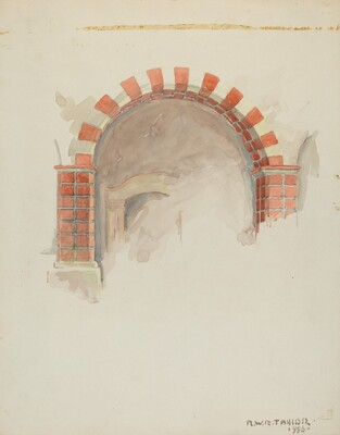 Restoration Drawing: Main Doorway and Arch toMission House