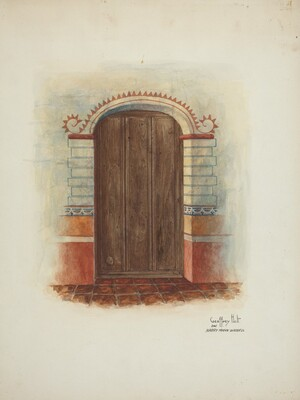 Wall Painting and Door (Interior)