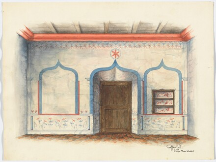 Restoration Drawing: Wall Painting