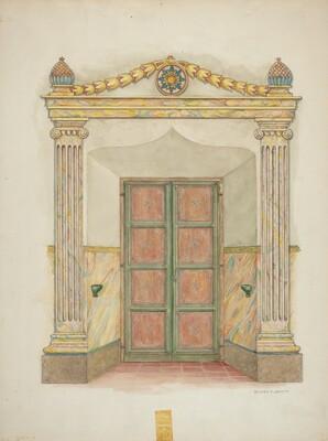 Doorway, Wall Painting and Doors