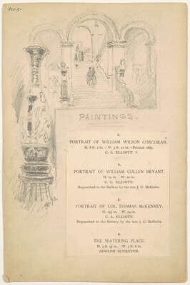 Paintings, for the 1892 Corcoran Gallery General Catalogue