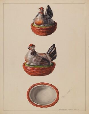 Hen on Basket