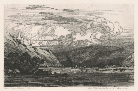 The Rhine, below St. Goar