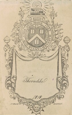Harvard College Bookplate with the Christo et Ecclesiæ Seal
