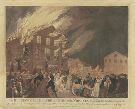 The Burning of the Theatre in Richmond, Virginia