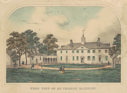 West View of Mount Vernon Mansion