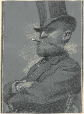 Man in Top Hat, Smoking a Cigar