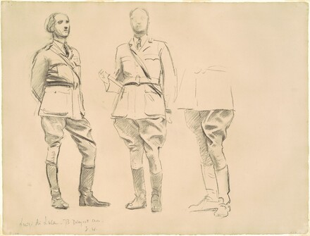 Studies for General Officers of World War I