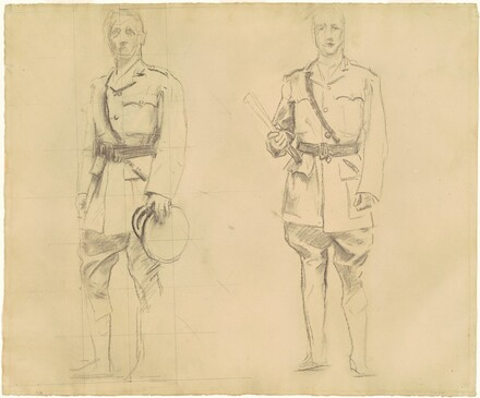 Studies of Generals Plumer and Haig for General Officers of World War I [recto]