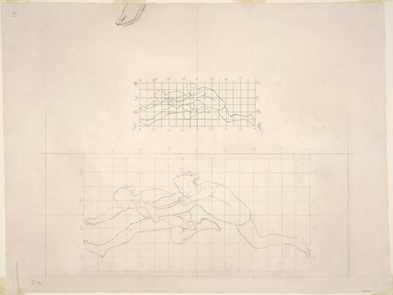 Studies for Two Classical Male Figures Jumping