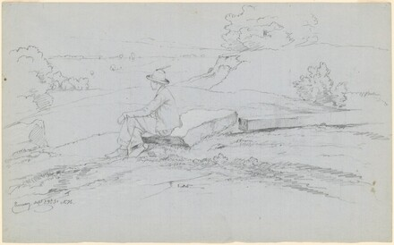 Study for White Mountains from North Conway, New Hampshire [recto]