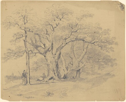 Old Oak Trees and Figures