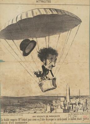 Une Descente en parachute
