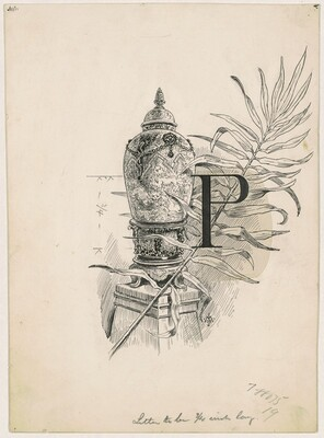 P Logo, for the 1892 Corcoran Gallery General Catalogue