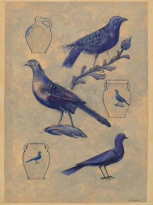Bird Decorations for Stoneware