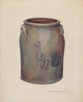Gray Stoneware Crock