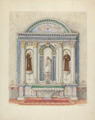 Side Altar, San Luis Rey Mission