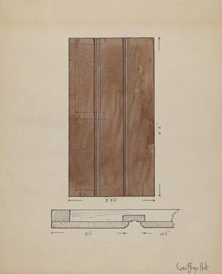 Original Inside Door to Sacristy