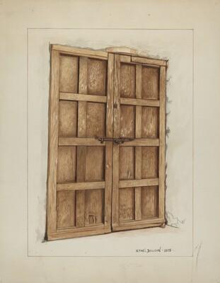 Sacristy Door at Mission San Juan Bautista