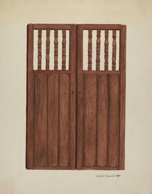 Doors to Baptistry - Mission San Juan Bautista