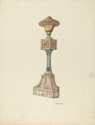 Ceremonial Candlestick (Ecclesiastical Furniture)