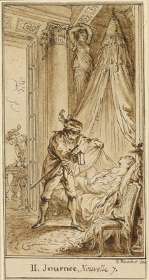 Second Day, Seventh Story: The Duke of Athens Contemplating the Sleeping Princess Alatiel