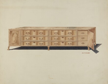 Cabinet, for Vestments