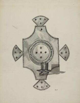 Cut Tin Candleholder (Candelero)