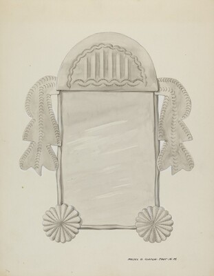Small Tin Framed Mirror