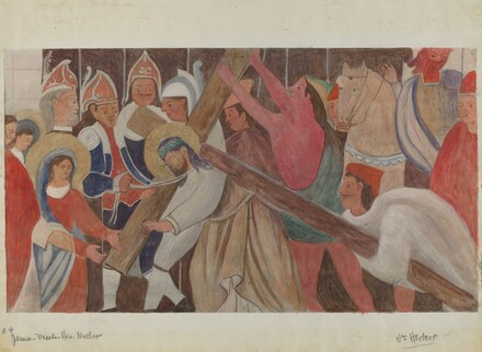 Station of the Cross No. 4: Jesus Meets His Mother