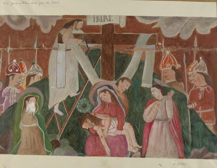 Station of the Cross No. 13: Jesus is Taken Down from the Cross