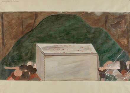 Station of the Cross No. 14: Jesus is Laid in His Tomb