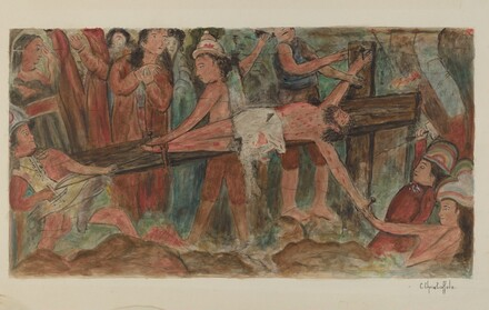 Stations of the Cross No. 11. Jesus is Nailed to the Cross