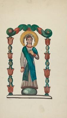 Bulto-Figure of Saint