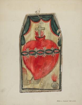 Retablo (Sacred Heart)