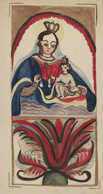 Retablo - Virgin & Child