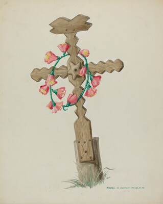 Wooden Cross used as Headstone (Hand Made)