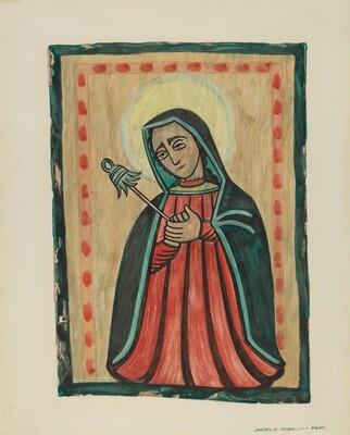 Retablo-Our Lady of Sorrows Nuestra Senora de los Siete Dolores