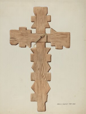 Penitente Cross, Carved Wood