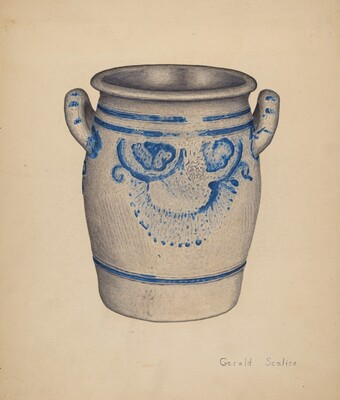 Gray Pottery Jar
