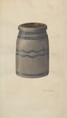 Quart Stoneware Preserving Jar