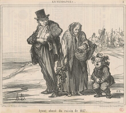 Ayant abusé du raisin de 1857