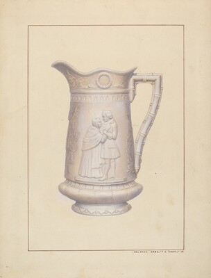 Bisque Water Pitcher