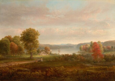 View on the Hudson in Autumn