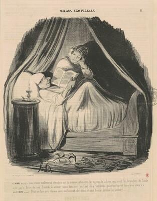 Le mari lisant: nous étions mollement étendus...